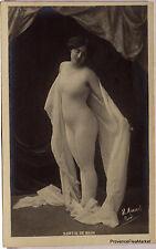 CPA  POSTCARD PHOTO FEMME NU ARTISTIQUE ACADEMIQUE 1900   Lae801
