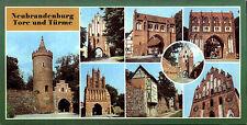 Sonderformat AK DDR Neubrandenburg Tore und Türme color Mehrbildkarte Postkarte