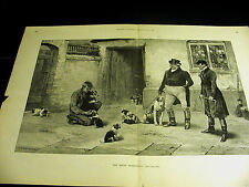 "Dollman HOUND DOGS ""RISING GENERATION"" PUPPIES HUNTING 1892 Large Folio Print"
