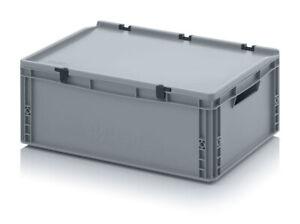 Auer Eurobehälter mit Deckel ED 64/22 60x40x23,5cm Kunststoffbox Industriekiste
