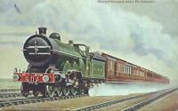 GNR Leeds Dining Car Express Peterborough water troughs 1907  postcard