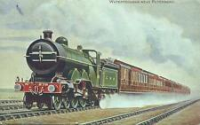 GNR Leeds Dining Car Express Peterborough water troughs 1907  postcard