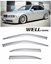 For 97-03 BMW E39 5-Series WellVisors Side Window Visors W/ Chrome Trim