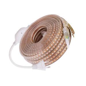 220V 2835 LED Strip Waterproof 120leds/m Diode Ribbon Tape Lamp High Bright