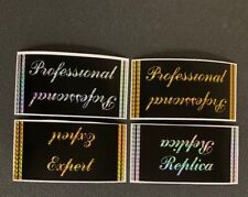 "Webco ""Professional"" Or ""Expert"" Decals - For Restoration - 2 standard colors"