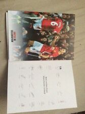 Official Manchester United autograph Card 2017 Season With Official Bag