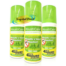 3x MoustiCare Mosquito & Insect Bite Repellent Skin Spray Regular Strength 50ml