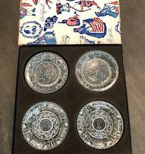 Vintage Westmoreland Glass Plate Set 1831 - Bejamin Franklin - Clay Henry W Box