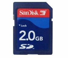 SANDISK 2gb 2g sdsdb-2048 Estándar Seguro Digital tarjeta de memoria azul SD