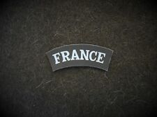 France national titles reproduction printed badges WWII for Battledress
