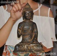 Tibet Buddhism bronze gilt Sakyamuni Shakyamuni Tathagata Amitabha Buddha Statue