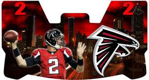 Custom Falcons Matt Ryan Football Helmet Visor, W/ Unbranded Clips