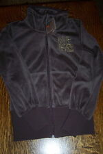 NWT $60 NIKE JUNIOR EMBROIDERED FLEECE JACKET - BROWN - X-SMALL  (0-2) / XS