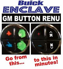 Buick Enclave Climate Control A/C Worn Peeling Button REPAIR Decals Stickers