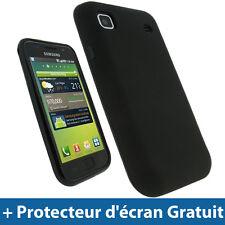 Noir Coque Gel TPU pour Samsung i9000 Galaxy S Android Portable Housse Etui Case