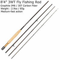 3WT Fly Fishing Rod 9FT Graphite IM8 Fly Rods Medium Fast Action Fishing Rods