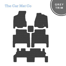 Fully Tailored Rubber Car Mats & Grey Trim For Chrysler Grand Voyager 2008-2015