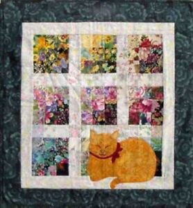 Cat Nap Whims Watercolor Quilt Kit *Free Domestic Shipping*