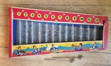 vintage 1940's xylophone toy glass tubes