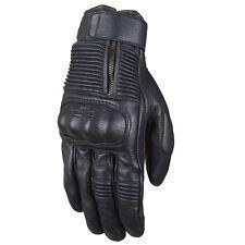 Furygan James Short Leather Motorcycle Gloves - Black