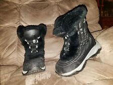 Northface toddler snow boots 13 black Goose Down lace up black 1