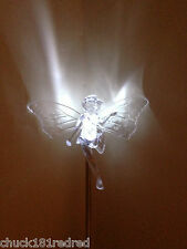 2 x 48cm Solar Powered Acrylic Angel/Fairy Light/Patio/Driveway/Grave/memorial
