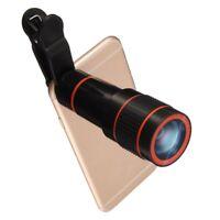 Objectif Zoom Lentille12X Téléobjectif Caméra Pince Universel Télescopique