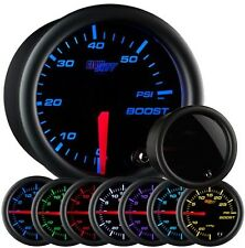 GLOW SHIFT Tinted 7 Color 60 PSI Boost Gauge GS-T701_60