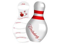 6 Einladungen zum Bowling oder Kegeln Kindergeburtstag Einladungskarten TOLL!!