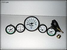Willys Jeep MB GPW CJ Gauges Kit - Speedometer MPH/KPH+Temp+Oil+ Fuel+ Amp Gauge