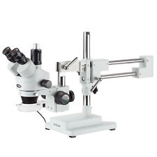 AmScope 7X-45X Circuit Inspection Trinocular Zoom Stereo Microscope 56-LED Light