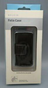 iPod Nano Black Leather Folio Case with Detachable Lanyard Belkin 2005