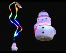 CUTE CHRISTMAS Light Up Flashing LED SNOWMAN Necklace Holiday Party FUN!