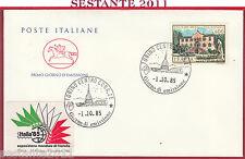 ITALIA FDC CAVALLINO VILLE D'ITALIA VILLA DE MERSI VILLAZZANO 1985 TORINO Y907