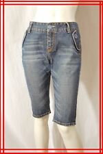 PAUL SMITH Taille 40 Superbe bermuda en jeans jean denim bleu pantacourt corsair