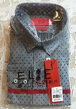 NWT Elie Balleh Milano Italy Size 20 Black Polka Dot Dress Shirt