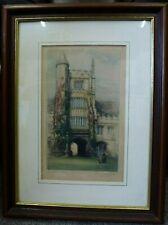 Antique etching print Henry G. Walker Magdalen College Oxford University art