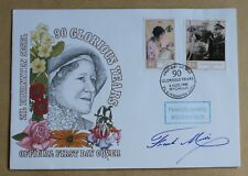 SEYCHELLES QUEEN MOTHER 90TH BIRTHDAY 1990 FDC SIGNED TV PERSONALITY FRANK MUIR