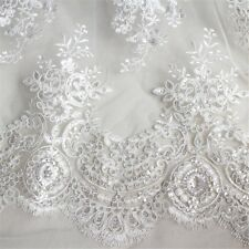 Lace Tulle Embroidery Floral Fabric Wedding Bridal Dresses By Metre Comfy Fairy