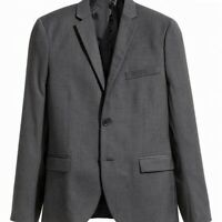 H&M Mens Gray Size 36 Slim Fit Two-Button Closure Wool Suit Blazer $150 #050
