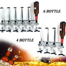 4/6 Bottle Bar Beverage Liquor Dispenser Alcohol Drink Shot Cabinet Wall Mounted