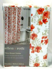 allen + roth Polyester Coral Floral Print Fabric Shower Curtain 72-in x 72-in