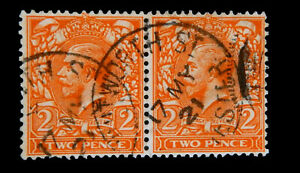 Great Britain / 1912 / King George V / Used / 2Pence / Block of 2/ SG368/ SC162