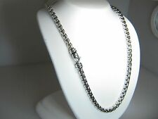 DAVID YURMAN 5.2MM BOX CHAIN STERLING SILVER 20 INCH NECKLACE