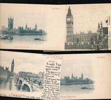 LONDON  Houses of Parliament x9 c1902 u/b PPCs