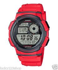 AE-1000W-4A Rote Casio Herrenuhren Standard Digital 10-Jahres Batterie Alarm Neu