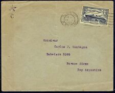 912 FRANCE TO ARGENTINA COVER 1935 SHIP STAMP PARIS - BUENOS. AIRES