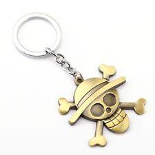 One Piece Porte-clés Métal Logo Luffy Straw Hat Skull Face Chapeau Paille 5 cm