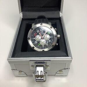 TW Steel Mens TW607 Dario Franchitti Indy Edition Black Rubber Chronograph Watch