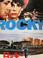"Film ""Rocky"" Sylvester Stallone Movie Program Japanese ver F/S"